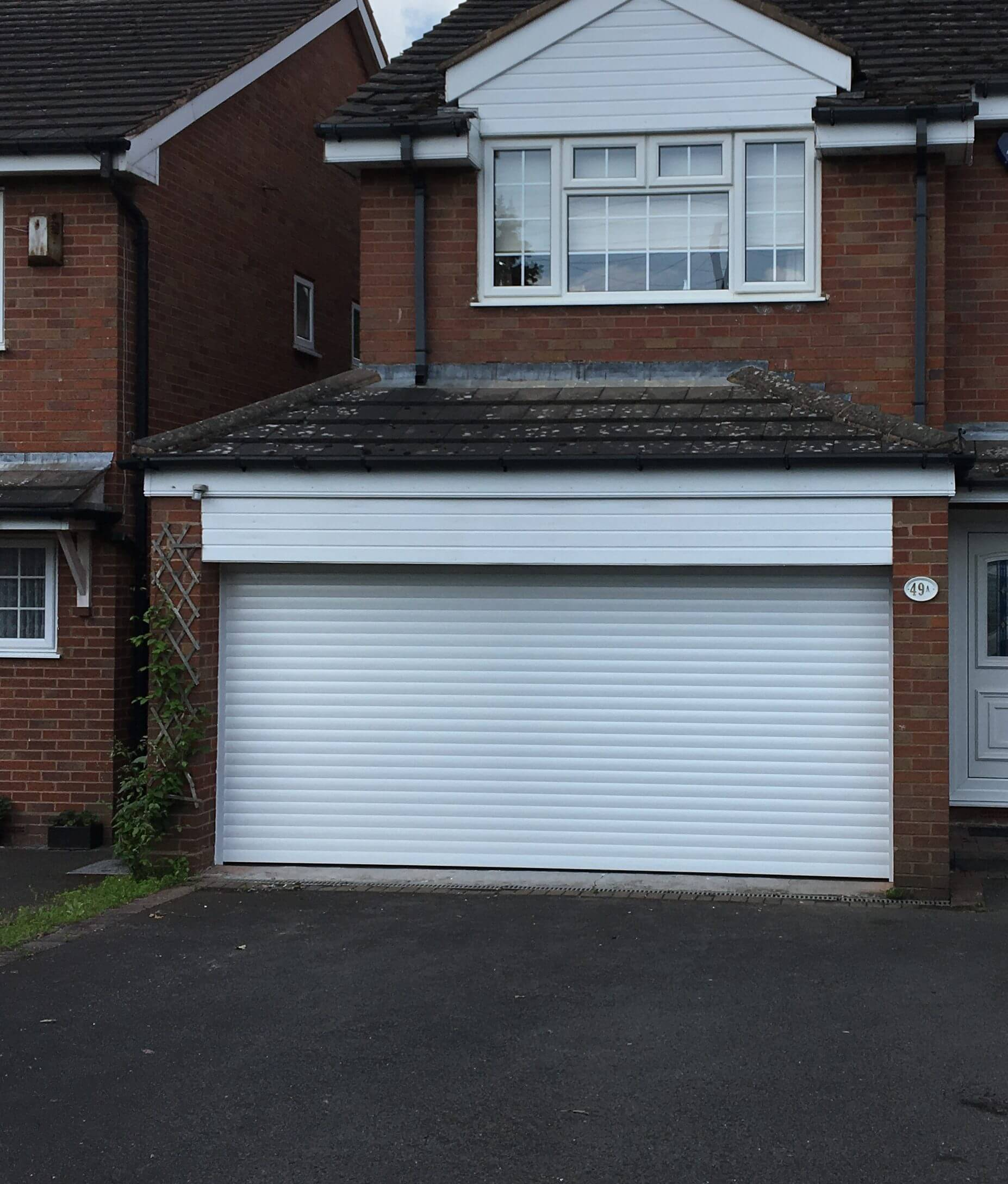 White Roller Garage Door Installation