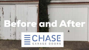 Before and After Garage Door Installation